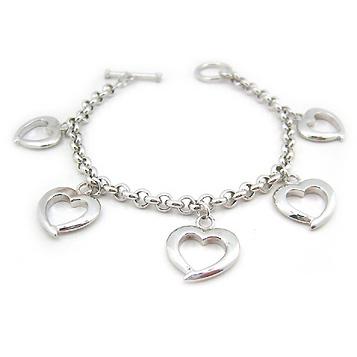 Bracelet Charms Coeurs
