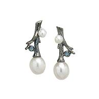 Boucles d'oreille Branche de Perle