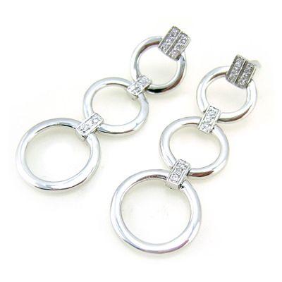 Boucles d'oreilles anneaux d'argent