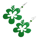 Boucles d'oreille Flower Power Vertes