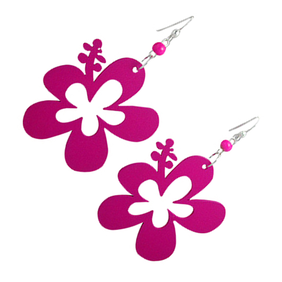 Boucles d'oreille Flower Power Mauves