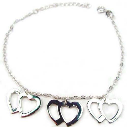 Bracelet Chaîne de Coeurs