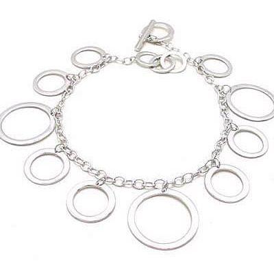 Bracelet Anneaux d' Argent