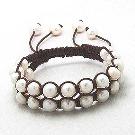 Bracelet Perle Deux Rangs