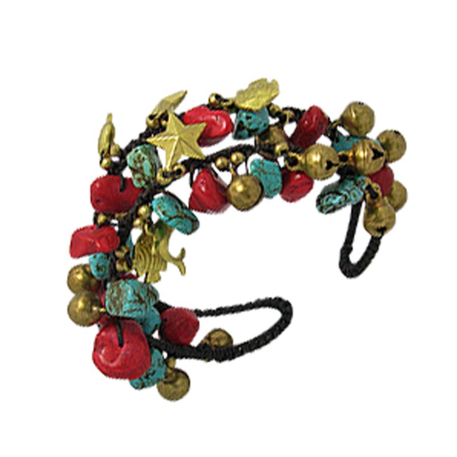 Bracelet Turquoise et Corail Vahiné