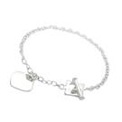 Bracelet Argent Charm Coeur