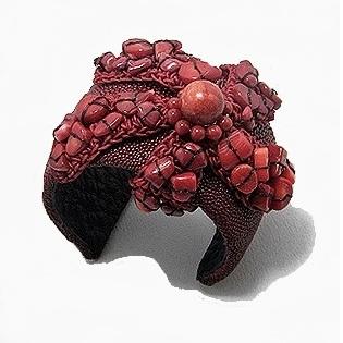 Bracelet Manchette Corail Couture