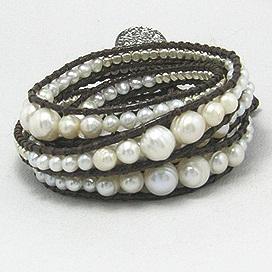 Bracelet Perle Multirangs Cheyenne Beach
