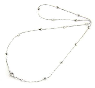 Chaîne argent perles joyeuses