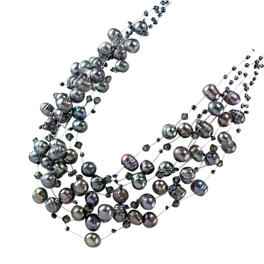 Collier Ras du Cou Perles Noires