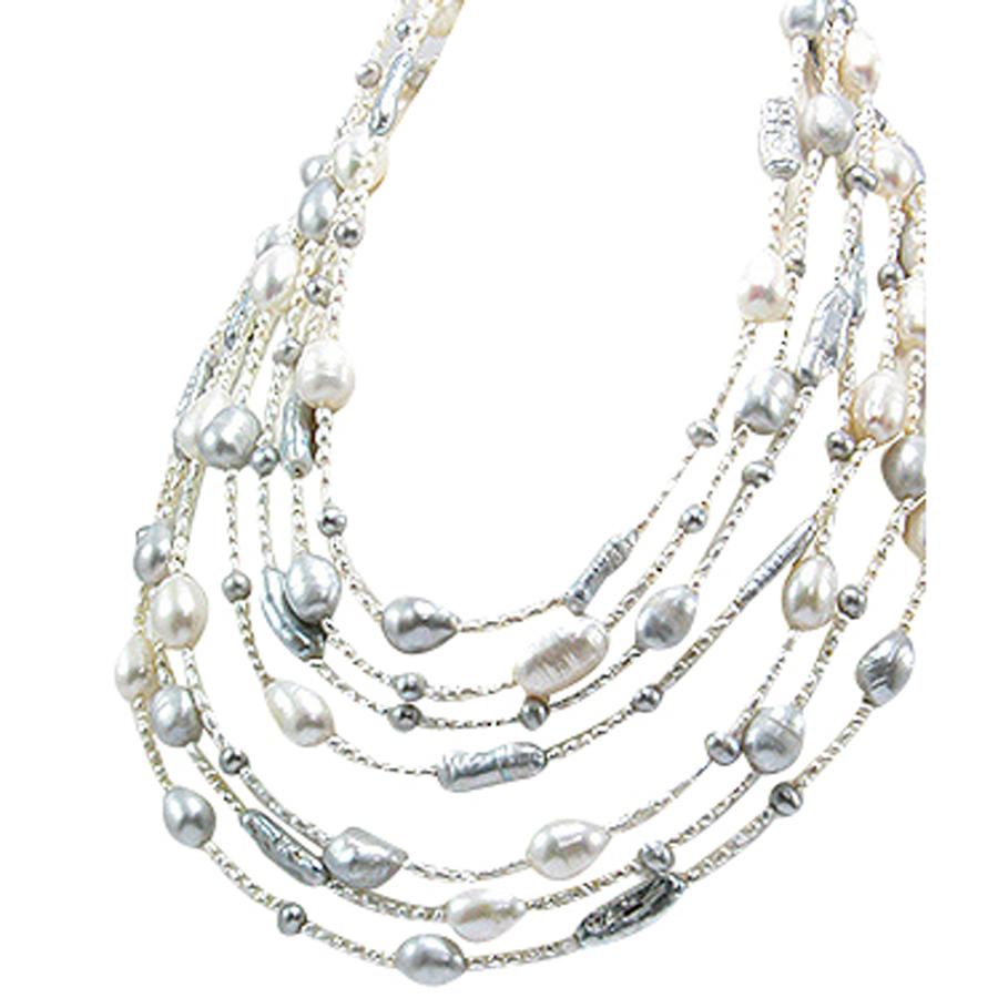 Collier  7 Rangs Perles Bonheur