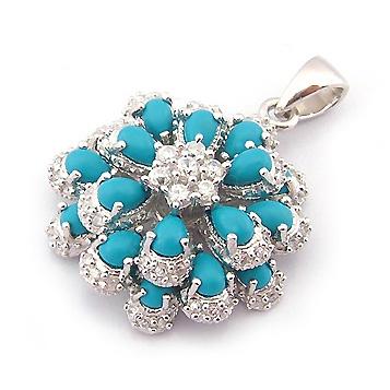 Pendentif Fleur de Turquoise
