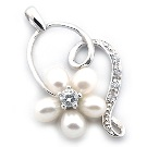 Pendentif Argent Amour de Perle