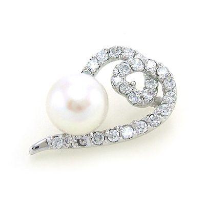 Pendentif Perle & Coeur de Brillants